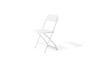 CH-522 ホワイト ホールディングチェア White Folding Chair with Plastic Seat and Back